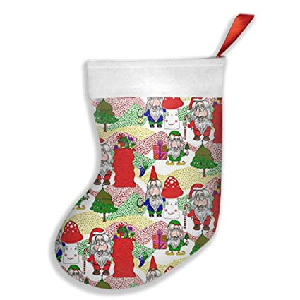 mclhq christmas santa gnome elf christmas stockings gift card bags holdersbulk personalized holiday
