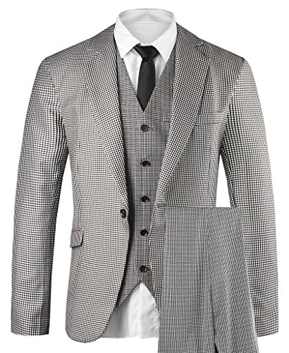Hanayome Men's 3 PC Casual Stylish Suit Blazer