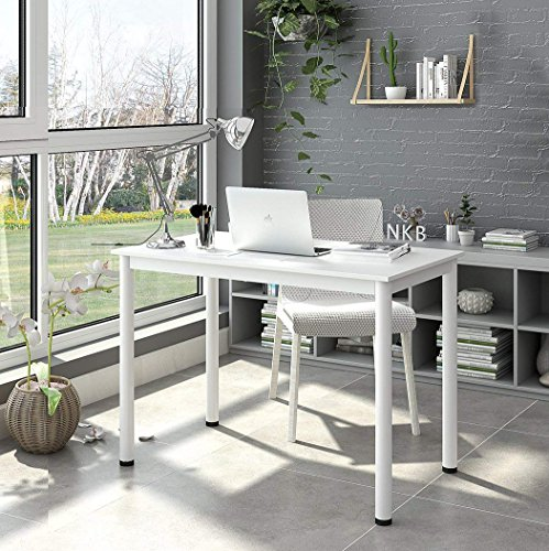 Computer Desk, Writing Desk Workstation Office Desk, White by Love of Life