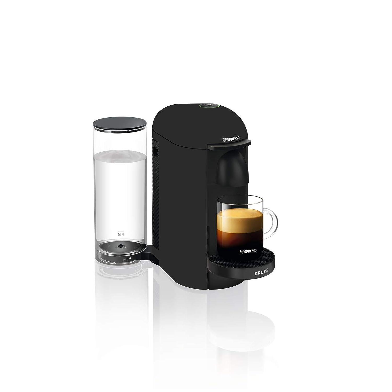 Krups Nespresso Plus cafetera eléctrica vertuo +, color negro mate ...