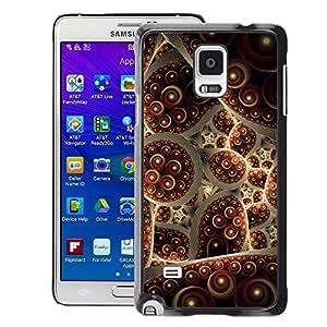 Planetar® ( Turkey Carpet Abstract Bubble ) Samsung Galaxy Note 4 IV / SM-N910 Fundas Cover Cubre Hard Case Cover