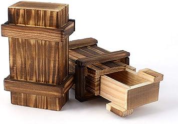 Caja de rompecabezas, Caja mágica Caja de rompecabezas de madera con compartimento secreto Caja de juegos de ingenio Juego Tarjeta de regalo de dinero Caja de rompecabezas para adultos Niños pequeños: Amazon.es: