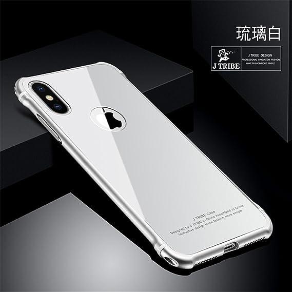 iPhone X Caso, lujo Aluminum Bumper 2 en 1 Marco de metal + Funda ...