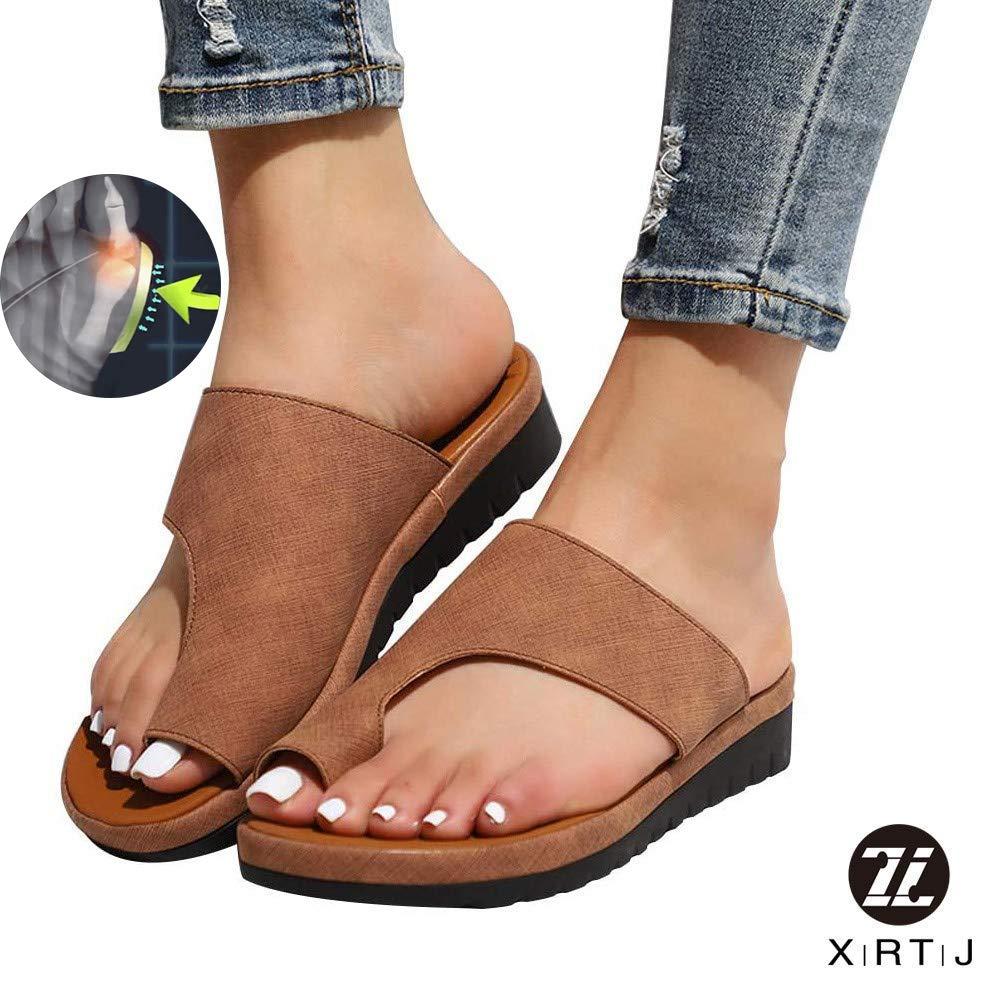 XRTJ Women Comfy Platform Sandal Shoes