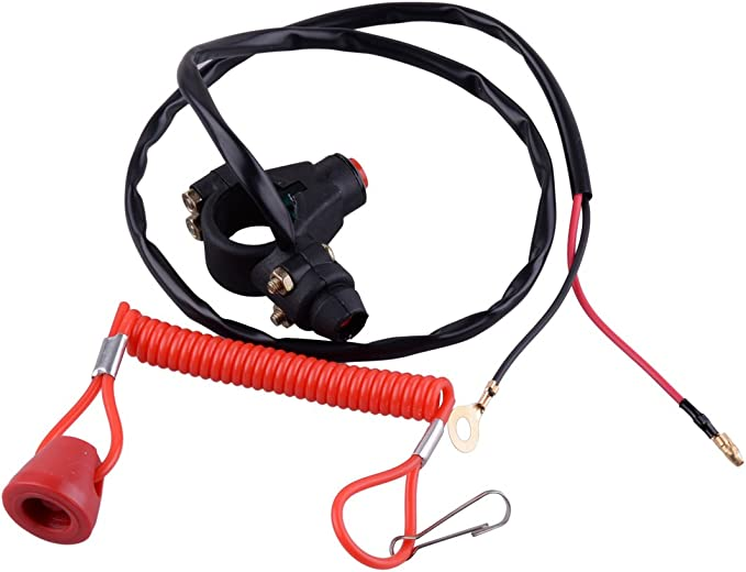1x Outboard Engine Motor Scooter ATV Kill Stop Switch Safty Cord TetherLanyardBH