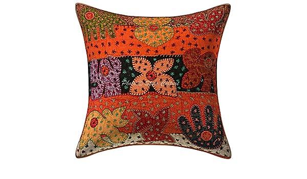 Amazon.com: Stylo Culture Cotton Ethnic Cushion Cover ...