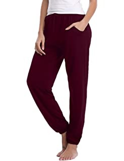 Aibrou Damen Modal L/ässige Gestrickte Schlafanzughose Pyjamahose