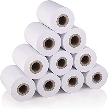 MUNBYN 10 Pcs Thermal Paper, for Mobile 58mm 30mm Mini Thermal Printer Cash Register POS Receipt Paper Roll: Amazon.in: Office Products