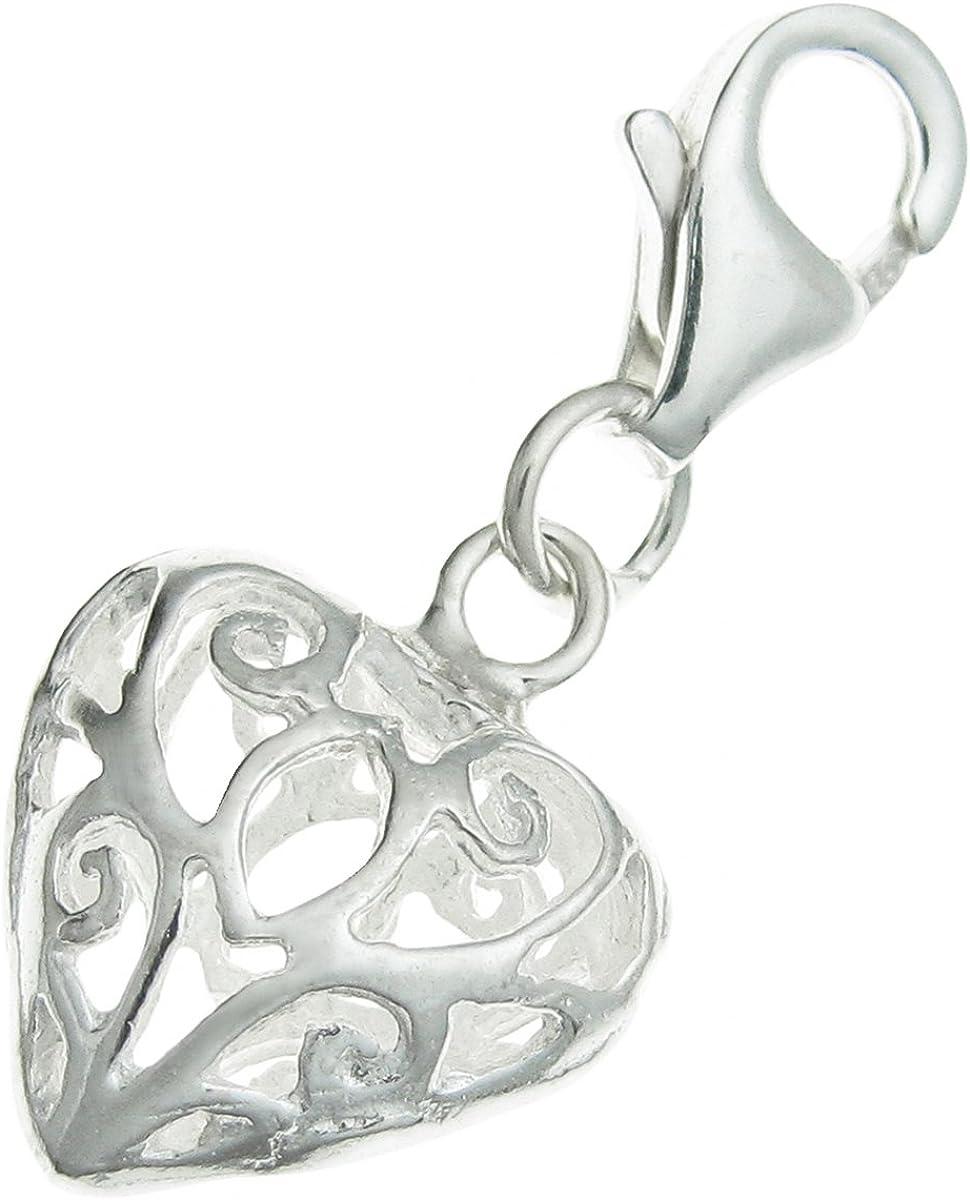 Sterling Silver Filigree Butterfly Dangle Clip Bead for European Charm Bracelet