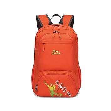 Wewod Mochilas de Moda para Adolescentes,Mochilas Plegable Viaje Hombre,Mochilas Deportivas Mujer (Naranja): Amazon.es: Equipaje