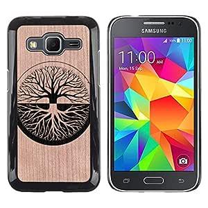 Funda Cubierta Madera de cereza Duro PC Teléfono Estuche / Hard Case for Samsung Galaxy Core Prime / Phone Case TECELL Store / Significado Zen profunda dualidad árbol de la vida Zen