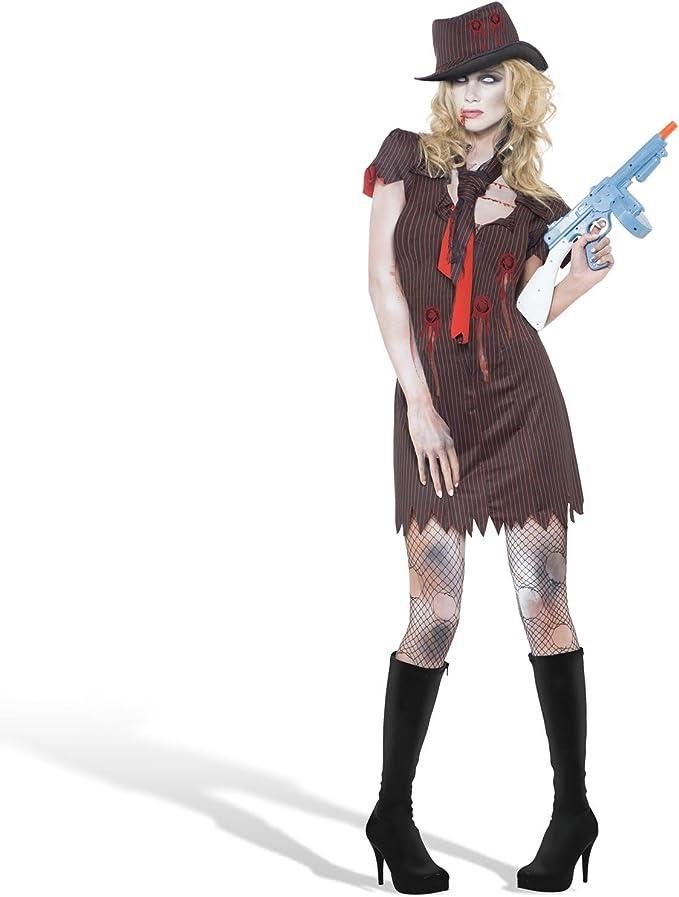 Traje de la Novia del Zombi del gángster de Disfraces de Halloween ...