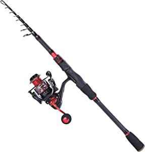 Sougayilang Fishing Rod and Reel Combos, Freshwater Spinning Combos Telescopic Spinning Fishing Rod and 13+1BB Corrosion Resistant Bearings Fishing Reel for Saltwater