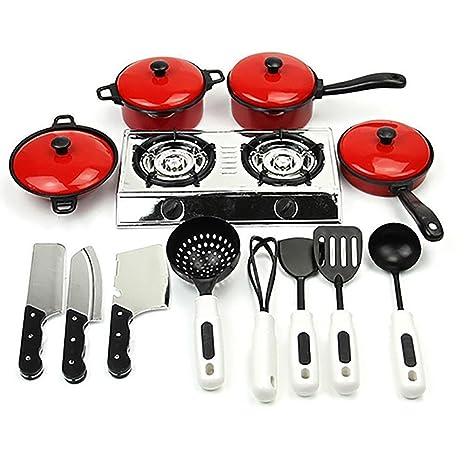 Juguete para niños, cocina, utensilios de cocina, ollas, ollas, utensilios de