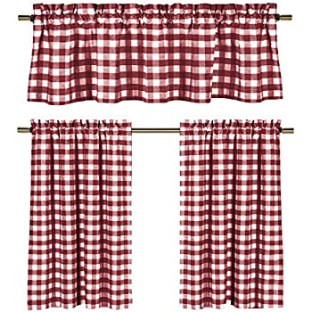 Amazon.com: lovemyfabric Poly Cotton Gingham Checkered Plaid ...