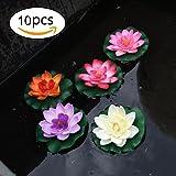 10 morceaux de 4 pouces flottants Fleur, étanche Fleur de Lotus Pour mariage Aquariums Décoration