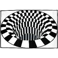[The Latest in 2020] Rug Carpet Protector Doormat 3D Swirl Print Optical Illusion Areas Rug Carpet Floor Pad Non-Slip…