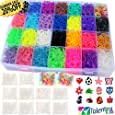 Talented Kidz 8500 Premium Rubber Bands Mega Box Refill and Storage Organizer: 8500 Rainbow Rubber Bands in 28 Colors, 500 S Clips, Charms and Beads. Case With Lid Included. This Is The Authentic Mega Box Organizer Loom. Talented Kidz Exclusive!