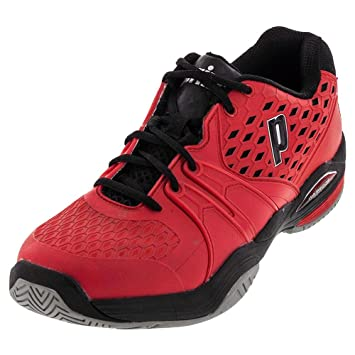 30b4a502518757 Prince Men s Warrior Clay Court Tennis Shoes - Red Black (Red Black ...