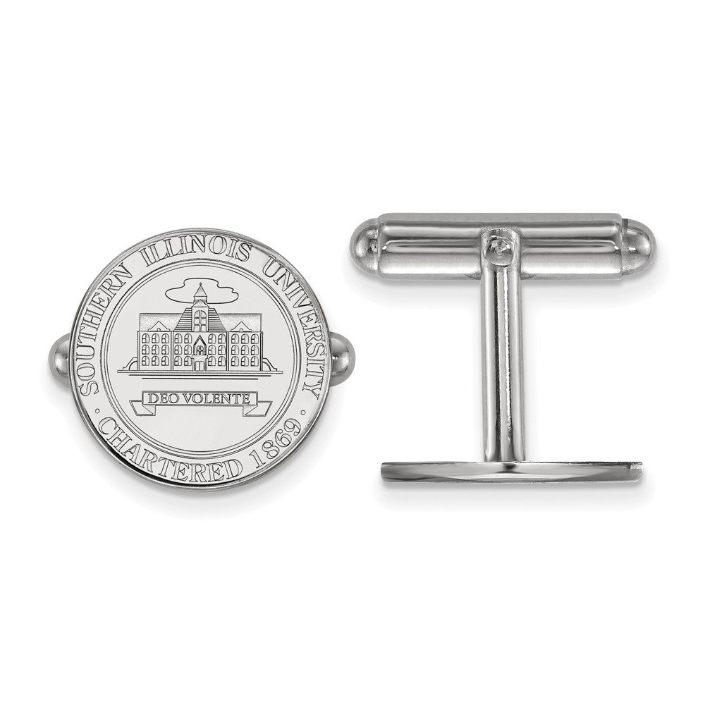 Southern Illinois Crest Cuff Links (Sterling Sliver)