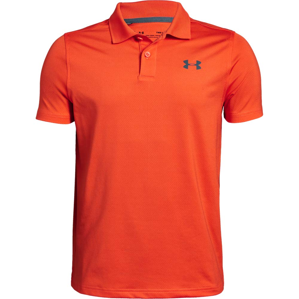 Under Armour Performance Polo 2.0, Papaya//Pitch Gray, Youth Large by Under Armour