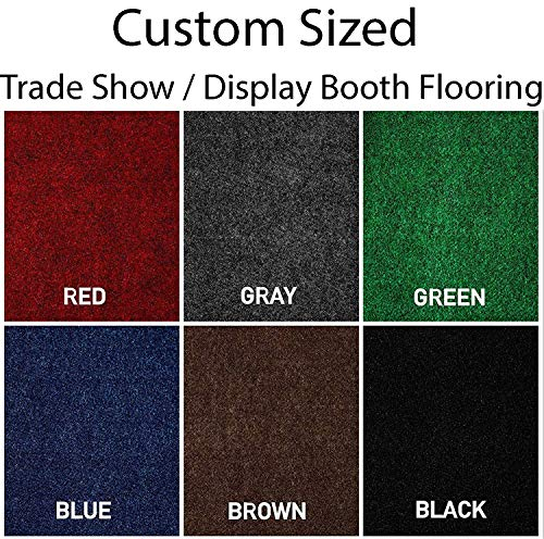 Large Custom Made and Cut-to-Fit Trade-Show Booth Area Rug Carpets