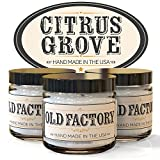 Scented Candles - Citrus Grove - Set of 3: Key Lime, Lemongrass, and Orange Zest - 3 x 4-Ounce Soy Candles - Each Votive Candle is Handmade in the USA with only the Best Fragrance Oils