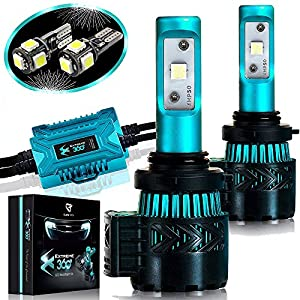 LED Headlight Bulbs Conversion Kit - 9006(HB4)CREE XHP50 Chip 12000 Lumen /Pair 6K Extremely Bright 68w Cool White 6500K For Bright & Greater Visibility 2 Year Warranty by Glowteck