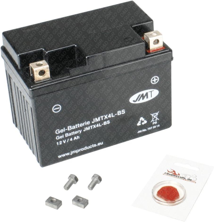 wartungsfrei Gel-Batterie f/ür Kymco ZX 50 II Super Fever Pfand /€7,50 inkl 1999-2006