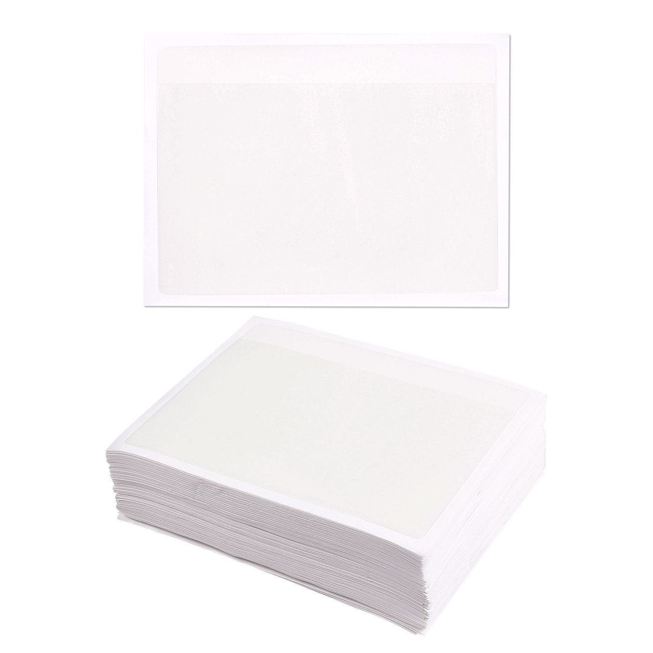 Ideal for Organizing and Protecting Your Index Cards Crystal Clear Plastic 4.6 x 6 Inches 100-Pack Self-Adhesive Index Card Pockets with Open Sides