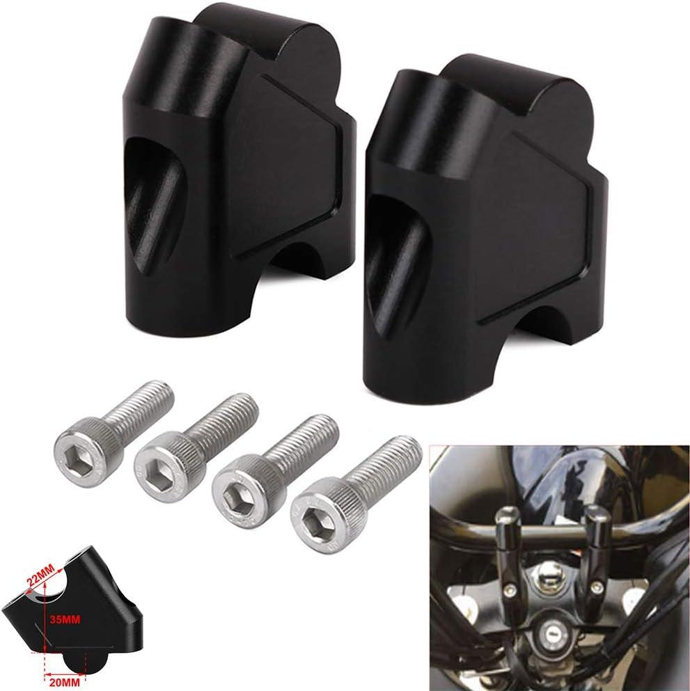 Elevador de Manillar de Motocicleta para GSF 1250S 1250 S SV650 SV1000 SV 650 1000 DL250 DL 250 V-Strom 250 GW 250S GW250 S 250F GW250S, Color Negro