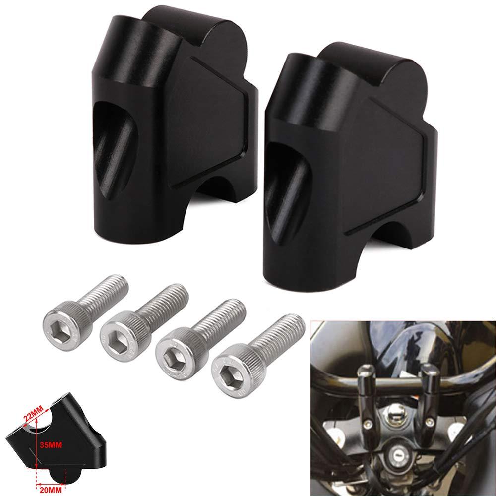 Fast Pro Motorcycle Handlebar Risers Clamp Mount Handle bar Riser for Suzuki GSF 1250S 1250 S SV650 SV1000 SV 650 1000 DL250 DL 250 V-STROM 250 GW 250S GW250 S 250F GW250S Black