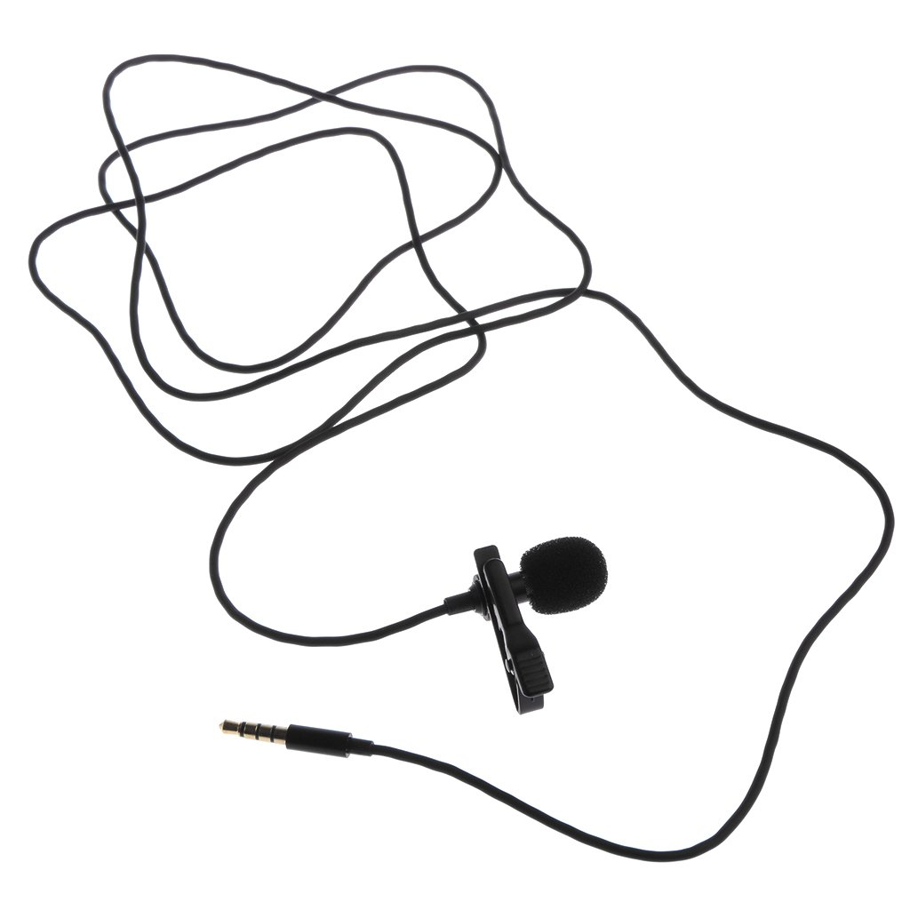 Interview iPhone Video Conference Voice Dictation Podcast MonkeyJack Professional Grade 3.5mm Lavalier Lapel Microphone Omnidirectional Mic with Easy Clip On System Perfect for Recording Youtube