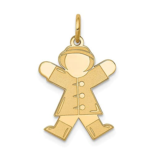 14k Yellow Gold Kid Charm
