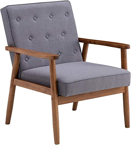 OlymStore Retro Modern Accent Fabric Chair