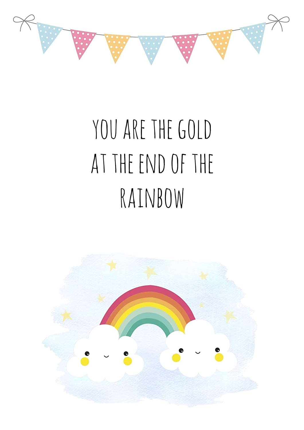 New Baby Bedroom Pictures Poster UNFRAMED Rainbow Nursery Decor Wall Art for Nursery Quote Print