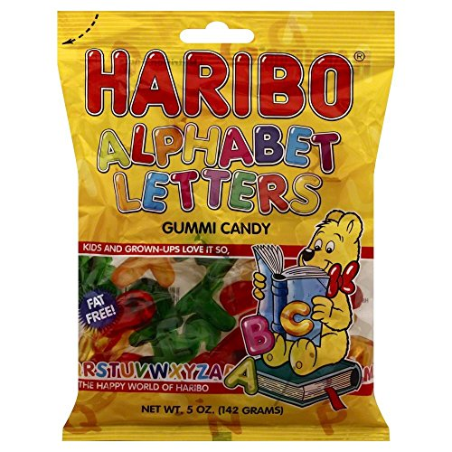 Haribo Gummi Candy, Alphabet Letters by Haribo