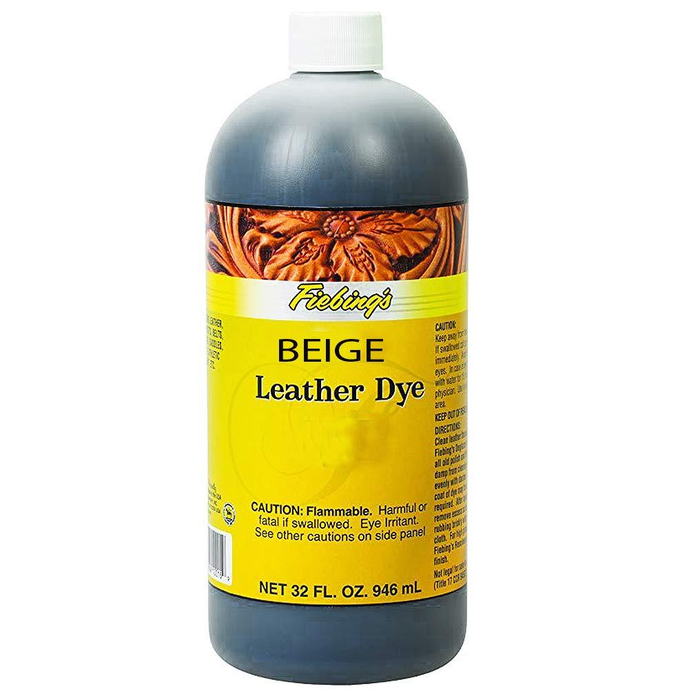 Fiebing's FILDYE16P032Z Leather Dye - Beige, 32 oz A.C. Kerman - LE
