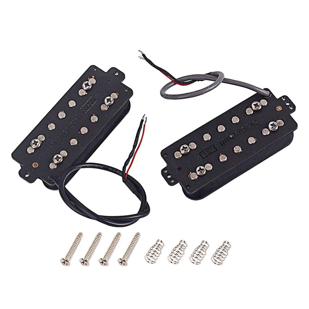 LIOOBO 1 Set 7 Saiten Fiber alnico v-Ausschnitt und und und brücke Gitarre Pickup humbucker Pickup Teile zubehör be0b62