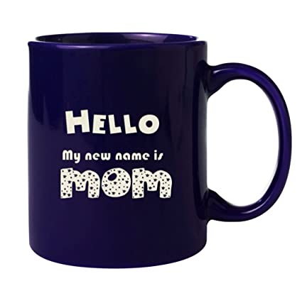 New Mama Coffee Mug Engraved Ceramic Gifts Both Side Etched WithquotHello My