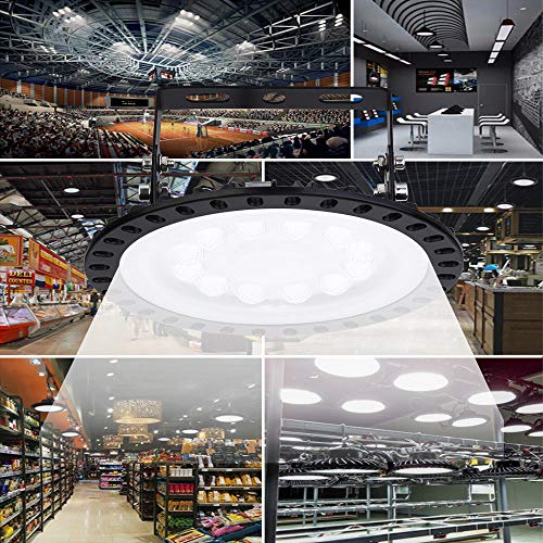 50100200300500W-UFO-LED-High-Bay-Lighting-Factory-Warehouse-Industrial-Lighting-IP65-Warehouse-LED-Lights-High-Bay-LED-Lights-Commercial-Bay-Lighting-for-Garage-Factory-Workshop-Gym