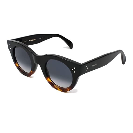 f18db929339 Sunglasses CÉLINE - CL 41440F S mod. ALIA - glamour vintage WOMEN s round  fashion HIGH FASHION - BLACK AND HAVANA  Amazon.co.uk  Clothing