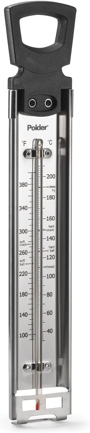 Polder Candy/Jelly/Deep Fry Thermometer Stainless Steel with Pot Clip