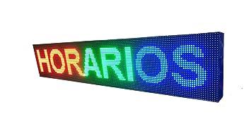 CARTEL LED PROGRAMABLE LETRERO LED PROGRAMABLE (160 * 32 cm, RGB) PANTALLA LED PROGRAMABLE ROTULO LED PROGRAMABLE CARTEL ELECTRÓNICO ANUNCIA TU ...