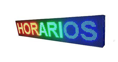 CARTEL LED PROGRAMABLE LETRERO LED PROGRAMABLE PANTALLA LED PROGRAMABLE (96 * 16 cm, AZUL) ROTULO LED PROGRAMABLE CARTEL ELECTRÓNICO ANUNCIA TU ...