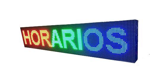 PANTALLA LED PROGRAMABLE LETRERO LED PROGRAMABLE CARTEL LED PROGRAMABLE ROTULO LED PROGRAMABLE (96 * 32 cm, ROJO) PROGRAMMABLE LED SIGN PROGRAMMABLE ...