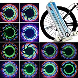 Bicycle Wheel Lights 32 LED Spinning Light Lamp Bike Accessories Valve Flashing Spoke Light Cycling Bikes Bicycles Outdoor (32 Pattern)