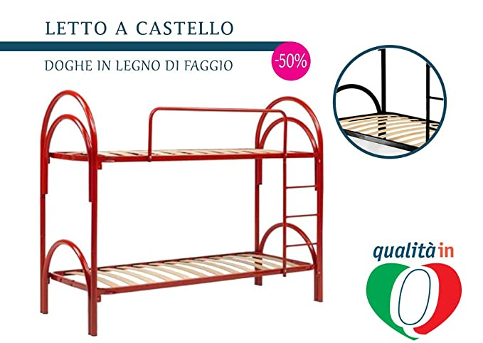 InMaterassi – Letti a castello in ferro bianco scomponibili, 100 ...