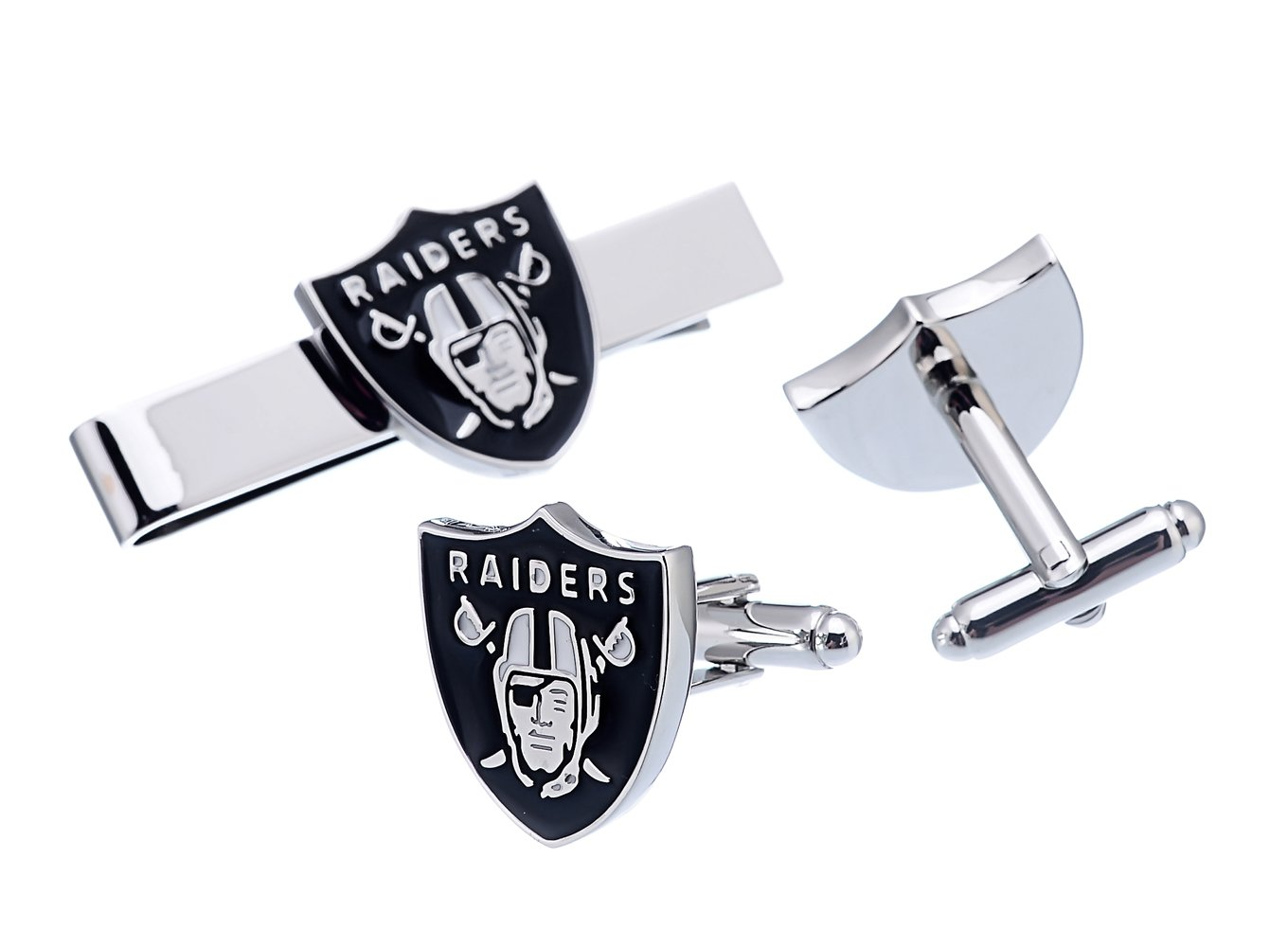 Promotioneer Men's Football Team Logo Symbol Series Cufflinks and Tie Clip with Gift Box 03