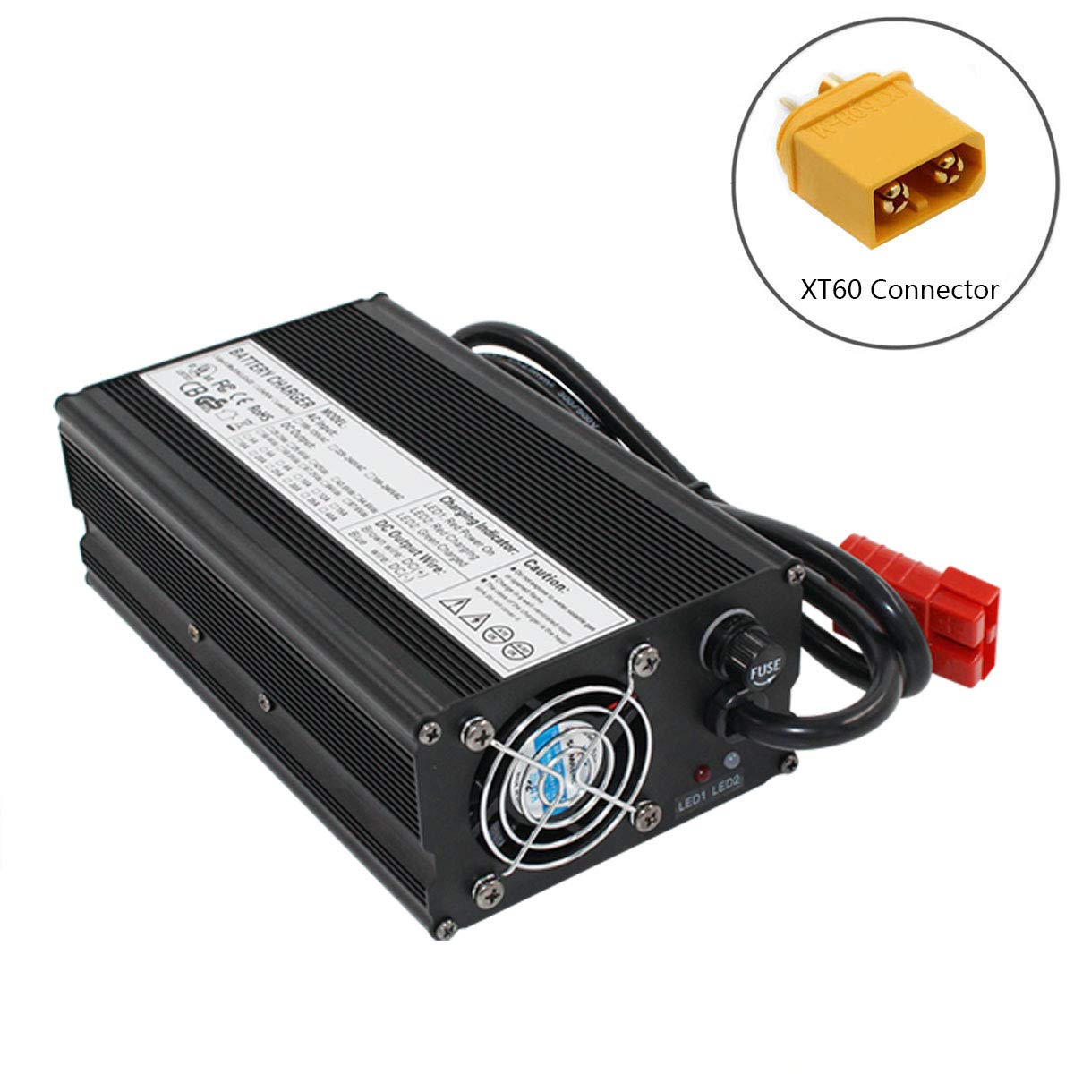 Amazon.com: 84V 6A Charger 20S 72V Li-ion Battery Smart ...